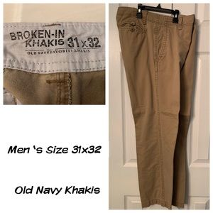 Men's Old Navy Khakis (Broken-In Feel)